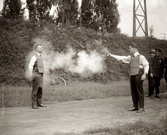 Bulletproof vest testing in 1923.