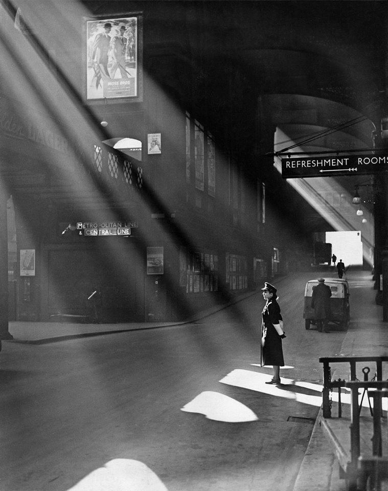 Liverpool Street Station, 1952, London.