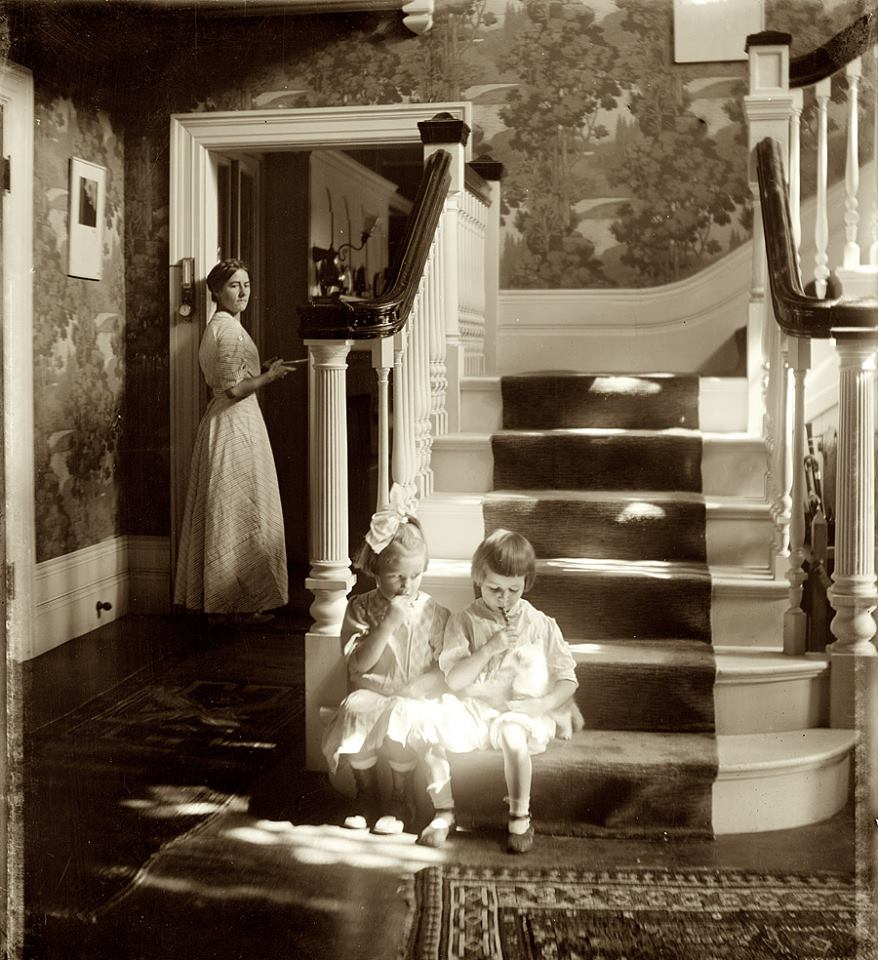 Revisiting the work of Gertrude Kasebier with %22Lollipops%22 from 1910. You can almost feel the warmth of the sunlight the girls sit in. The cat is enjoying it just as much.