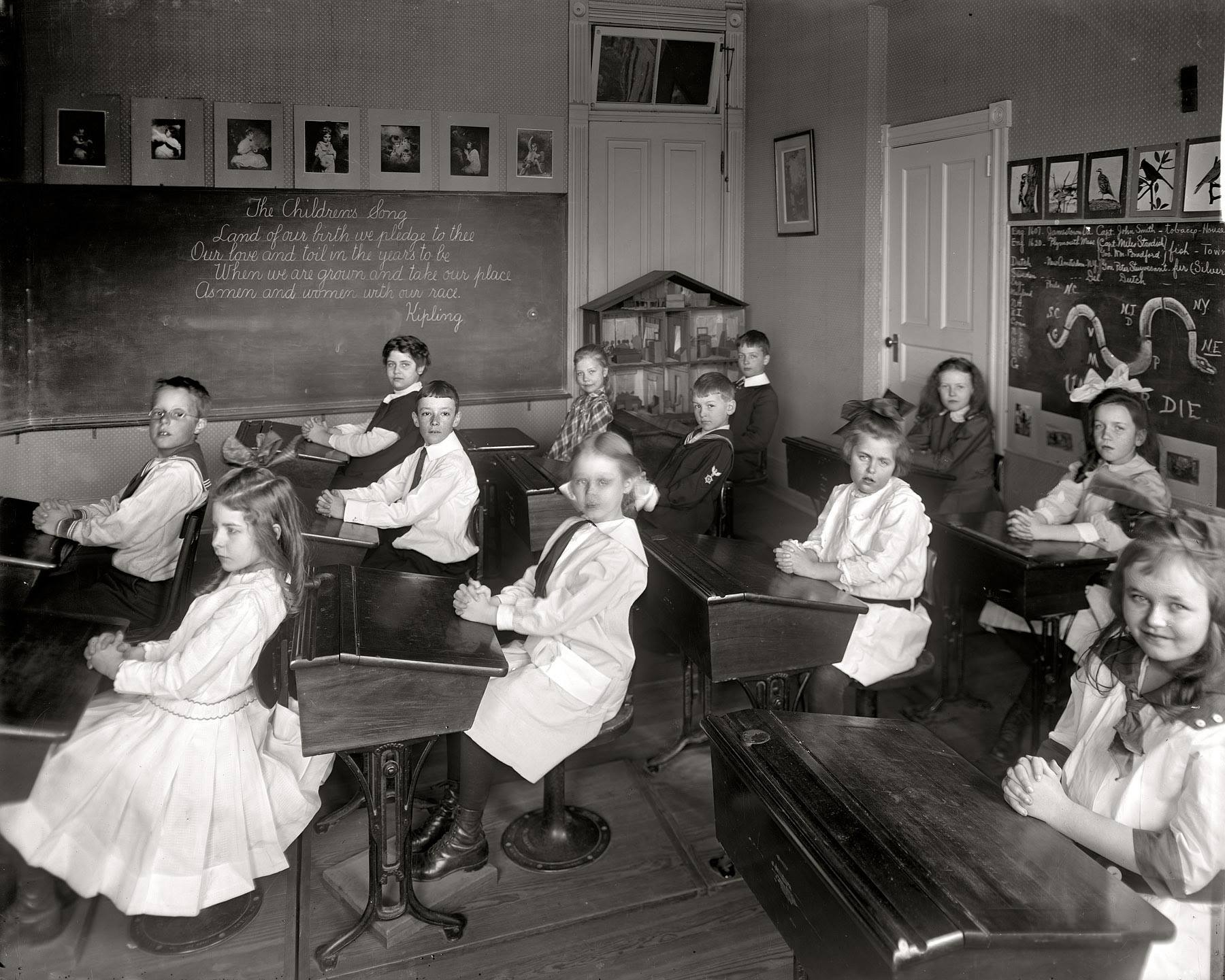 Welcome to school in 1910. (Washington D.C.)